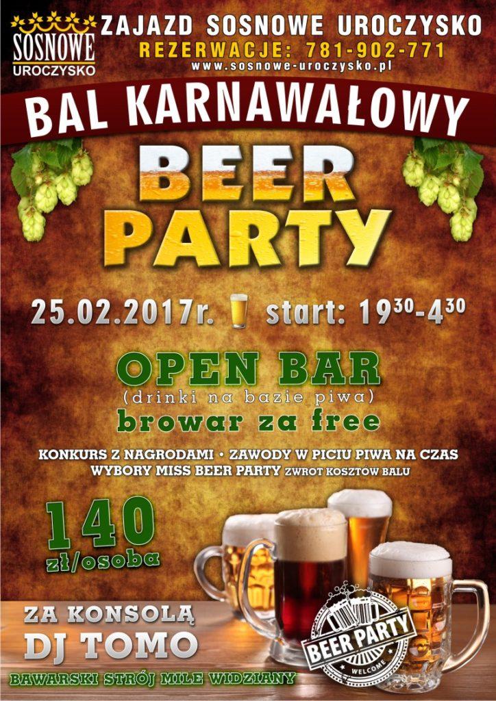 Menu_A3_Beer Party_SOSNOWE_UROCZYSKO